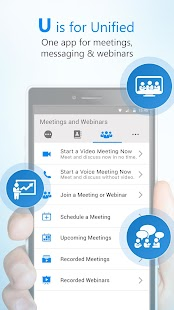 U | Webinars, Meetings & Messenger- screenshot thumbnail