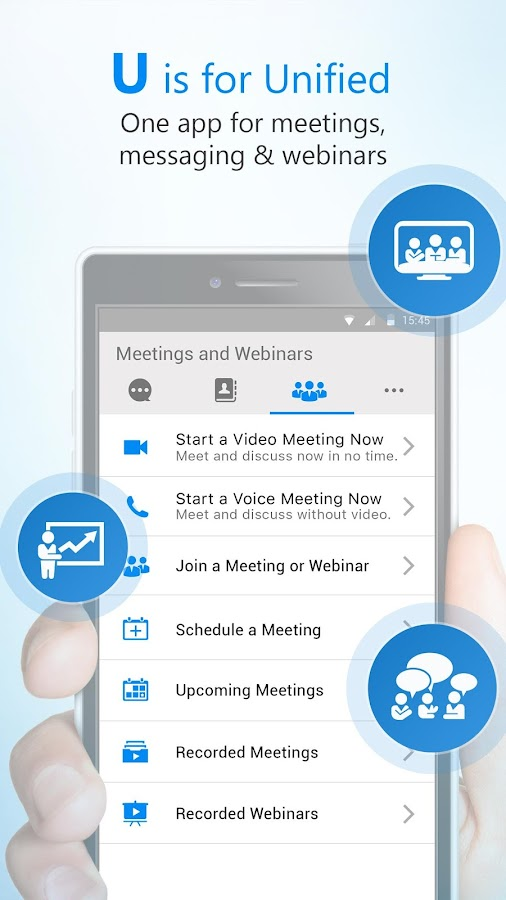 U | Webinars, Meetings & Messenger- screenshot