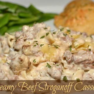 Creamy Beef Stroganoff Casserole