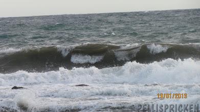 Photo: Vågorna som rulland in var riktigt stora