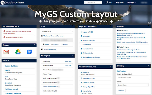 MyGS Custom Layout