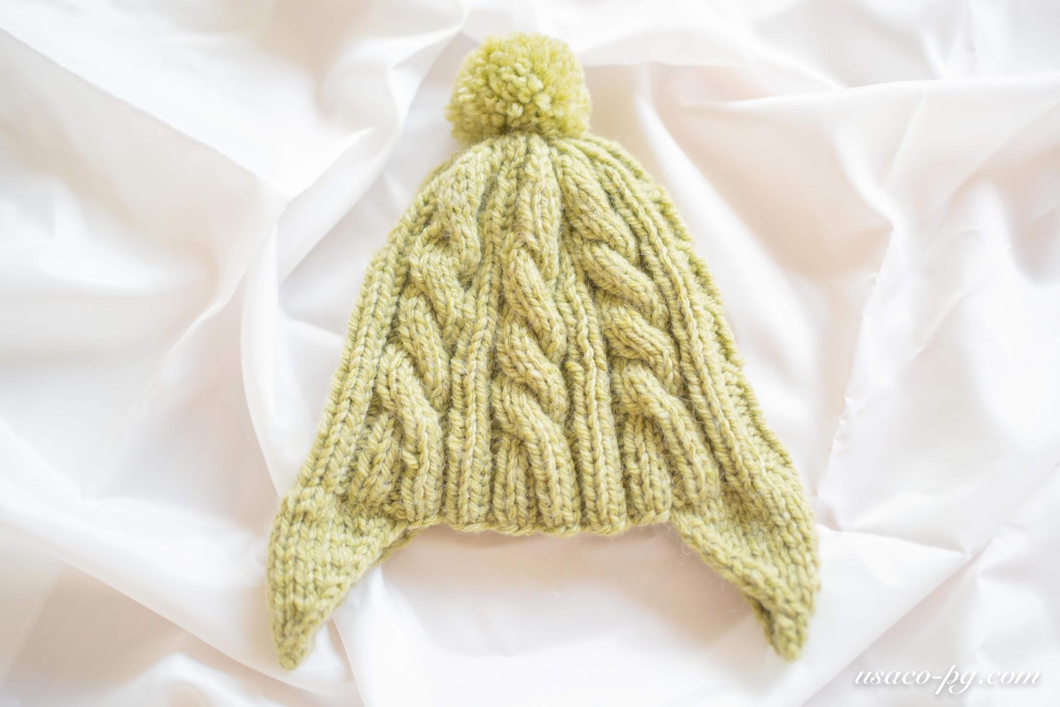 編み 帽 子供 棒針 ニット 図 子供の耳当て付きニット帽子の編み方や作り方は?用意する物は?