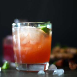 Rhubarb Ginger Cocktails.
