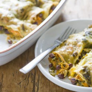 Sweet Potato and Black Bean Enchiladas.