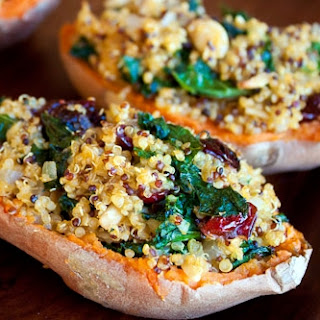 Quinoa Stuffed Sweet Potatoes.