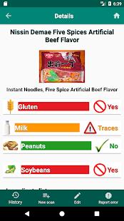 My Food Allergies Scanner