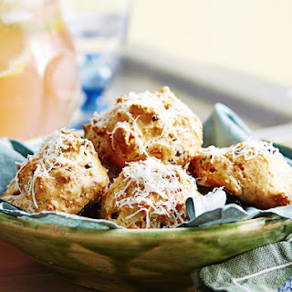 Olive and Cheese Gougeres.