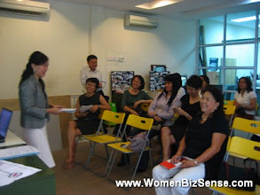 Photo: Jo as WBS founder, addresses the new ladies.