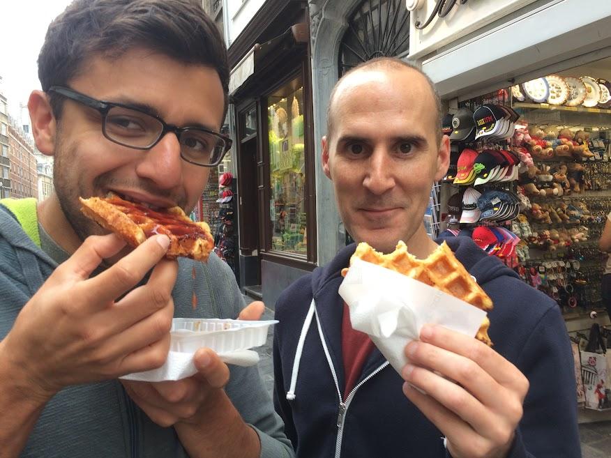Belgian waffle in Belgium