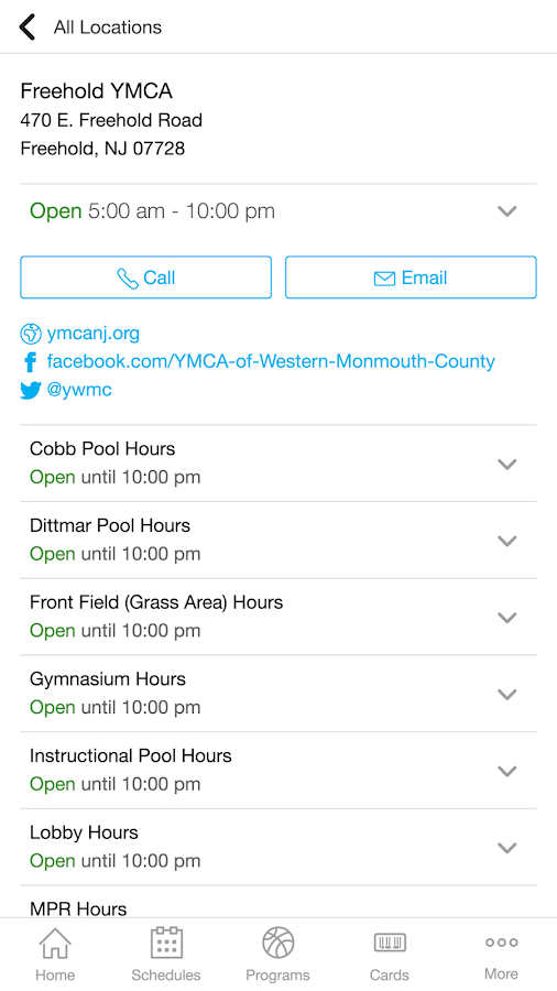 YMCA of Western Monmouth Co.- screenshot