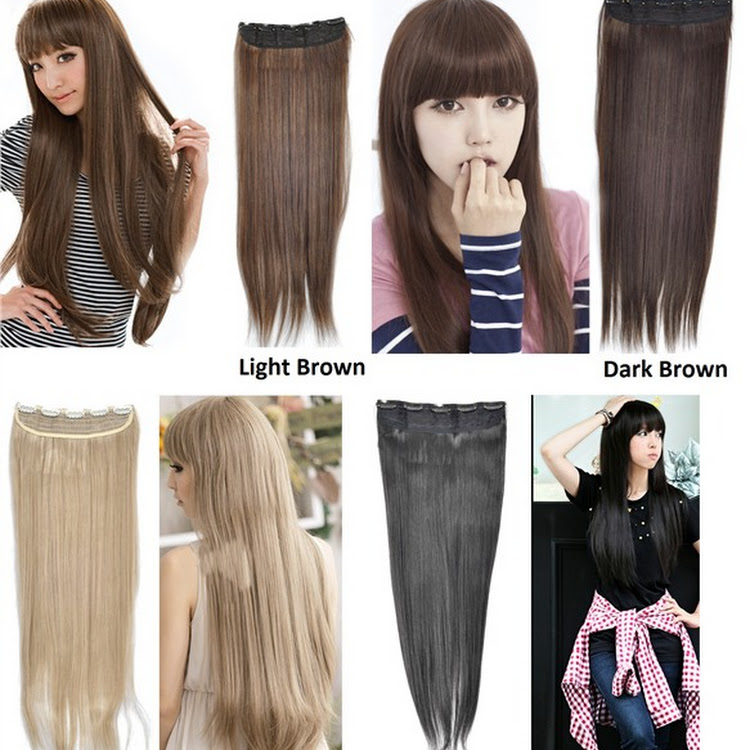 Straight Kanekalon Hair Extensions in 4 colours by Supermodels Secrets