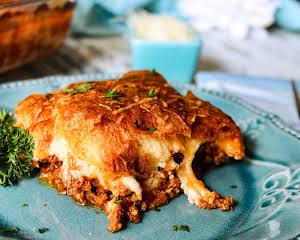 Cheesy Italian Ricotta & Beef Pie