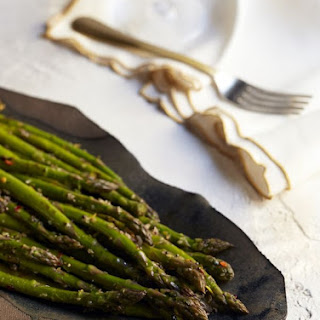 Grilled Asparagus with Lemon Zest and Mustard