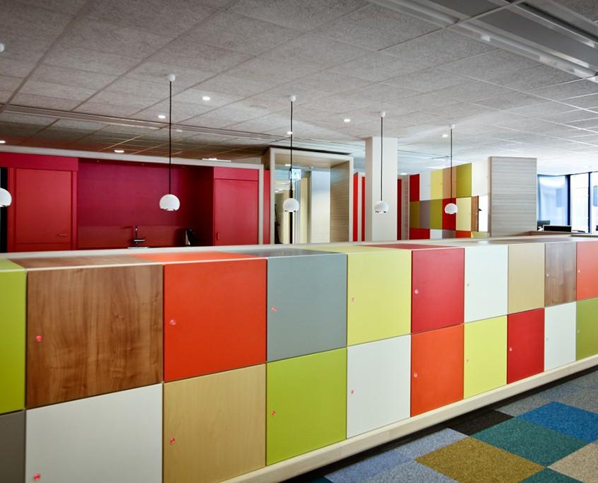 storage lockers in an SF office