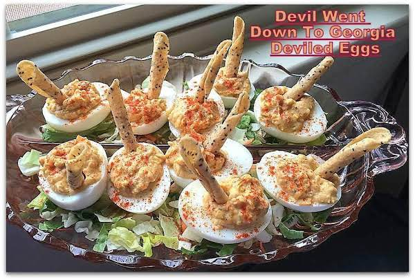 The devil went down to georgia deviled eggs recipe just a pinch the devil went down to georgia deviled eggs recipe forumfinder Choice Image