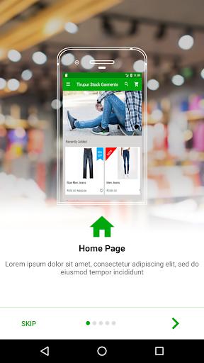 Tirupur Stock Garments App Report on Mobile Action - App