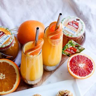 Honey Orange Mimosa Cocktail + Honey Walnut Cookies.