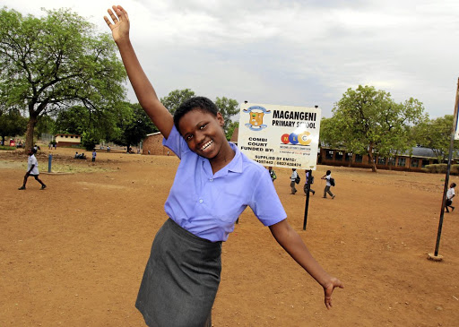 Hlulani Baloyi from Magangeni Primary School in Malamulele will represent SA in a spelling competition in Kenya later this month. / ANTONIO MUCHAVE