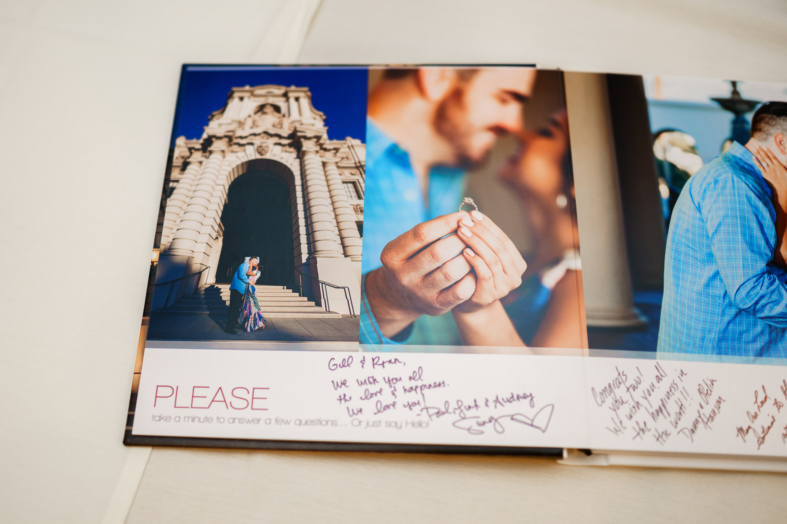 signable wedding album guestbook