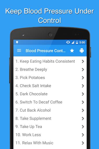 Blood Pressure Control Natural