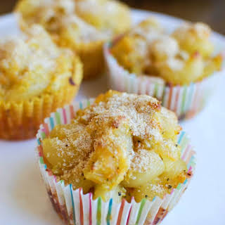 Healthy Mac and Cheese Muffins.