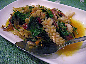 Photo: stir-fried cuttlefish with chillies and aromatic herbs (bplah meuk pad chah)