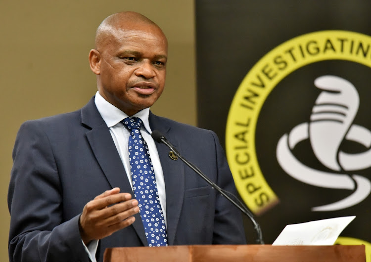 SIU head Andy Mothibi Mothibi told Scopa that evidence was being destroyed as it investigated PPE fraud. File picture.