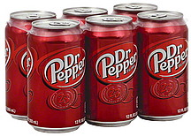 Dr. Pepper Soda - 6 Pack