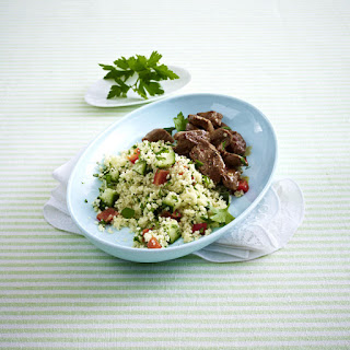 Lamb with Couscous Salad.