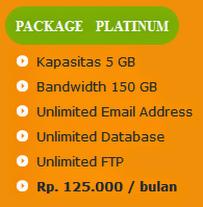 tarif paket hosting platinum anekahosting.com