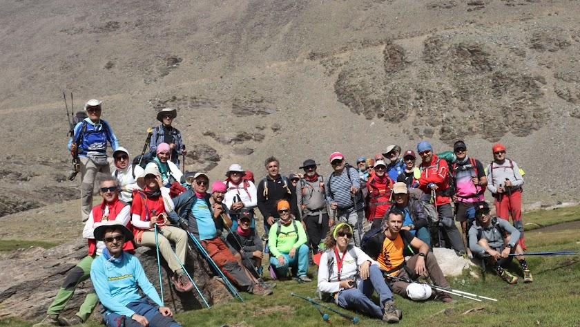 Los protagonistas de una actividad de montaña.