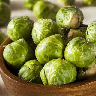 Pan-Roasted Brussels Sprouts and Shrimp