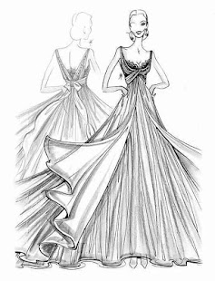 Teach me how to draw fashion sketches of dresses