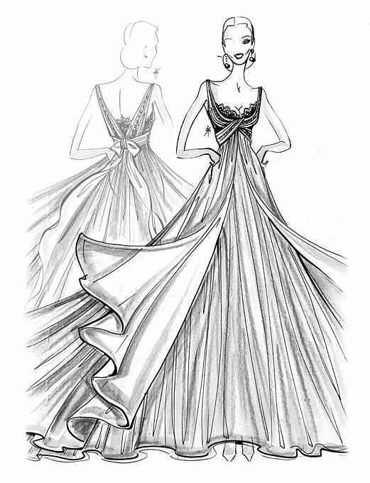 Awesome Gown Drawing Images Images For Wedding Gowns And Flowers Collcor Com