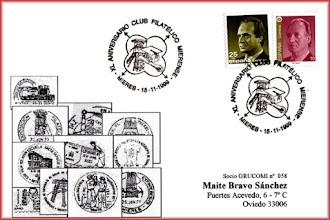 Photo: Matasellos del XV Aniversario del Grupo Filatélico de Mieres
