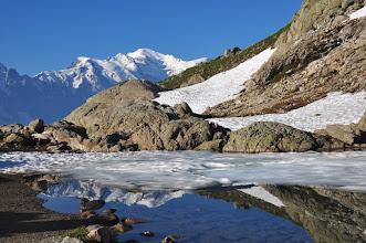 Photo: Départ du refuge du Lac Blanc