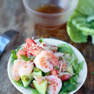 Thai Shrimp And Cucumber Salad.