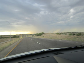 Photo: One of many dust devils (left shoulder) we spotted along the way.