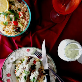 Greek Meatballs with Homemade Tzatziki & Mediterranean Couscous