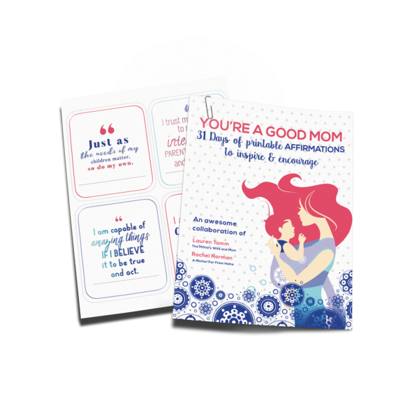 Perfect positive affirmation cards for moms! Beautiful!