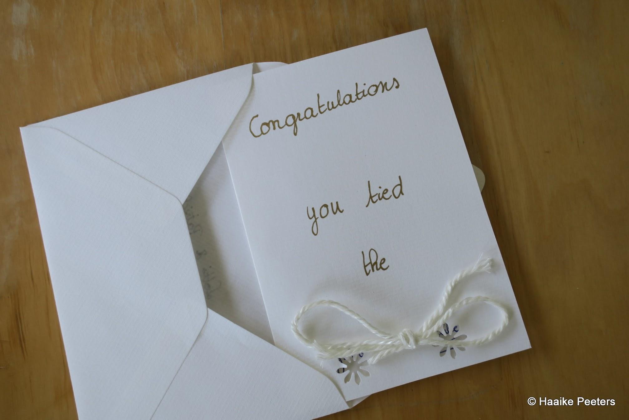 Felicitatiekaart huwelijk (Le petit requin)