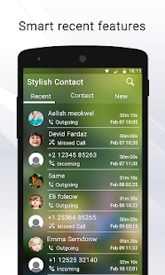 Stylish Contacts Dialer - náhled