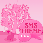 Tema Animal Pink GO SMS Pro icon