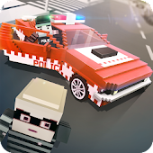Mr. Blocky Police: Police Car SIM