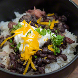 Brazilian Black Beans and Rice.