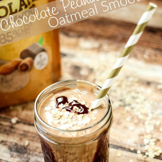 Chocolate Peanut Butter Oatmeal Smoothie.