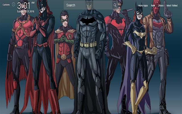 Batman and Robin wallpapers New Tab