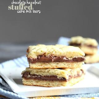 Chocolate Hazelnut Cake Mix Bars