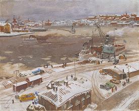 """Photo: Stephen Bone, """"Stoccolma in inverno"""" (1928)"""