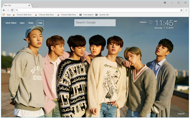 Ikon Kpop Hd Wallpapers New Tab Themes